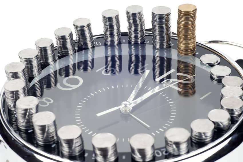 zegar i pieniądze